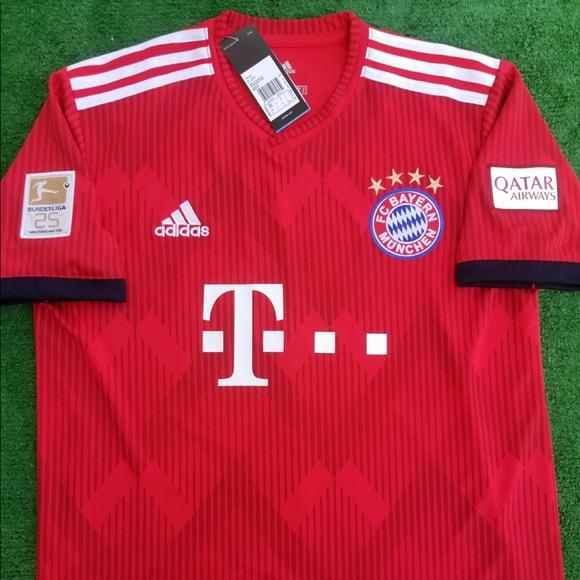 0db9045672c adidas Shirts   201819 Bayern Munich Soccer Jersey James   Poshmark
